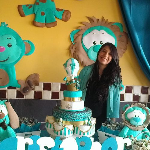 Decoración baby shower para niño Safari