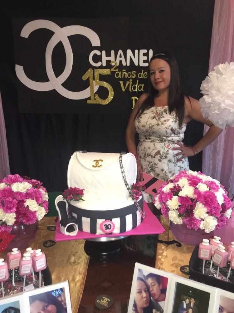 decoración cumpleaños mujer- chanel   decoraciones tematicas