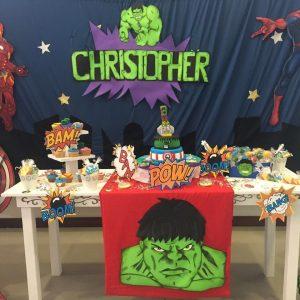 decoracion cumpleaños avengers