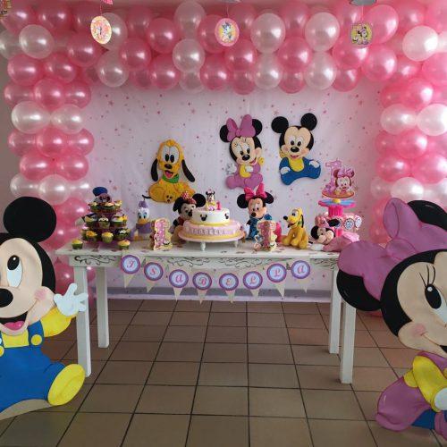 Decoracion de Cumpleaños Mickey bebe
