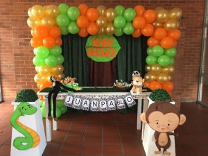 decoración baby shower safari
