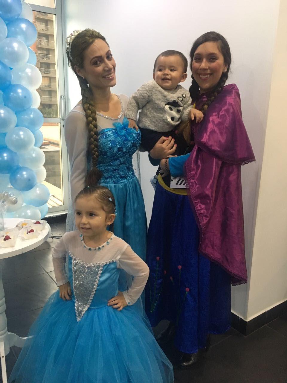 recreacion princesas frozen