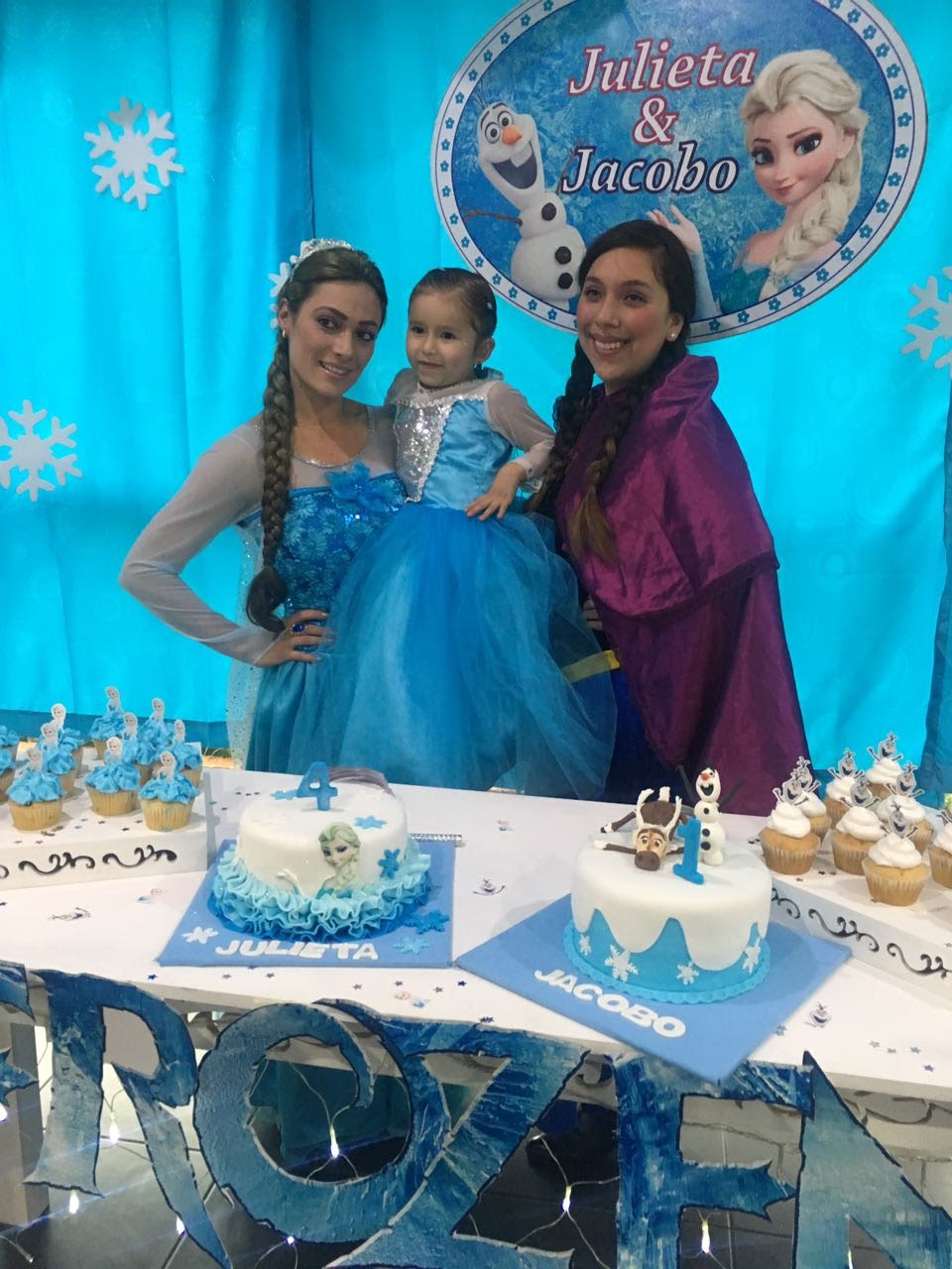 recreacion princesas frozen
