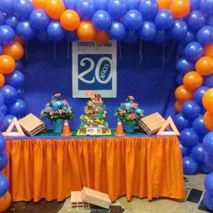 decoracion para empresas en su aniversario