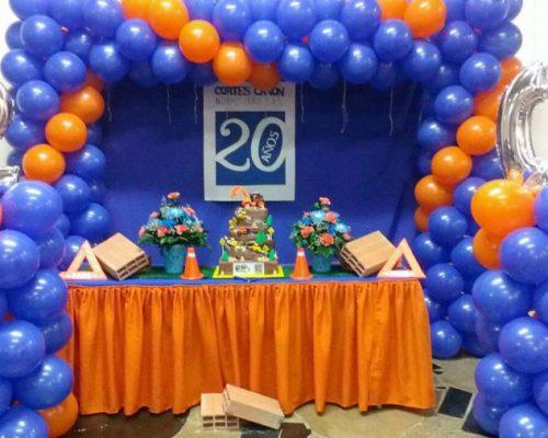 Fiesta Empresarial- Decoración de aniversario