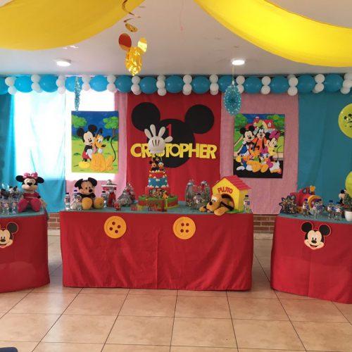 Decoración de Cumpleaños Mickey Mouse 1 añito
