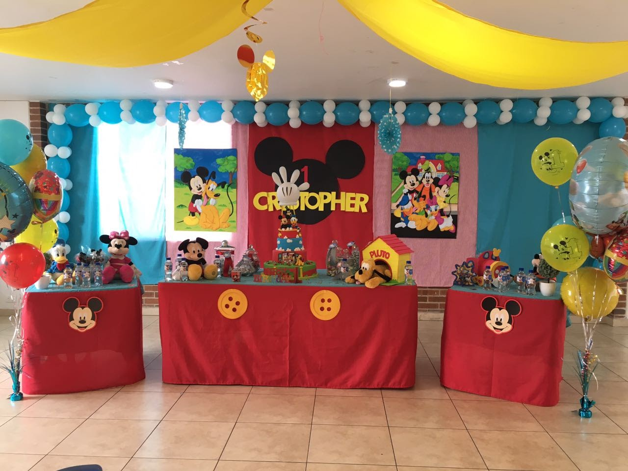 Decoracion Fiesta 1 A Ito Mickey Decoraciones Tematicas