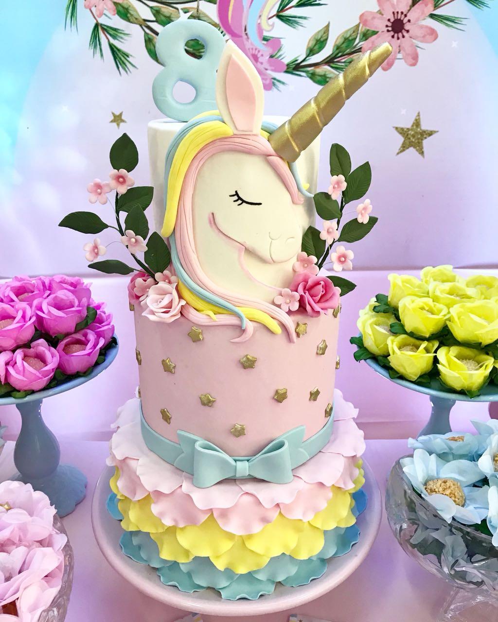 Torta Unicornio Decoraciones Tematicas