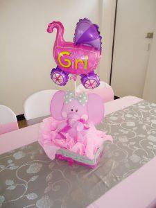 centro de mesa baby shower niña