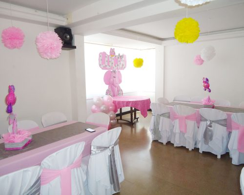 Decoracion baby shower niña elefante