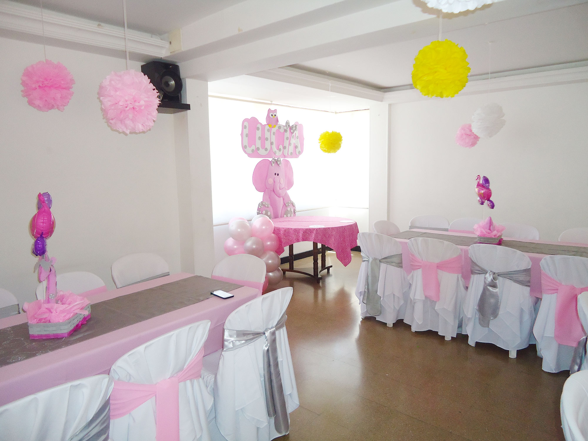 Decoraci n baby shower para ni a decoraciones tematicas for Decoracion baby shower nina