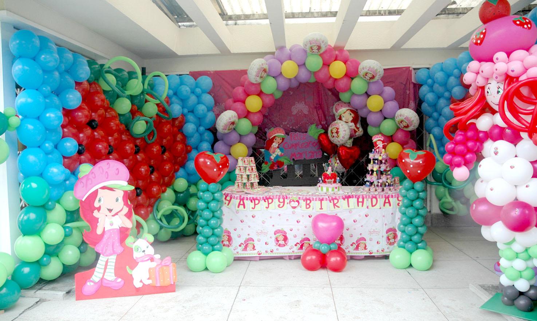 decoracion fiesta rosita fresita