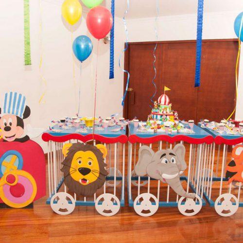 Decoración de Cumpleaños Mickey Mouse-Circo
