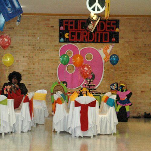 Decoración de cumpleaños para hombre- Fiesta 80s