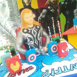 decoracion fiesta super heroes