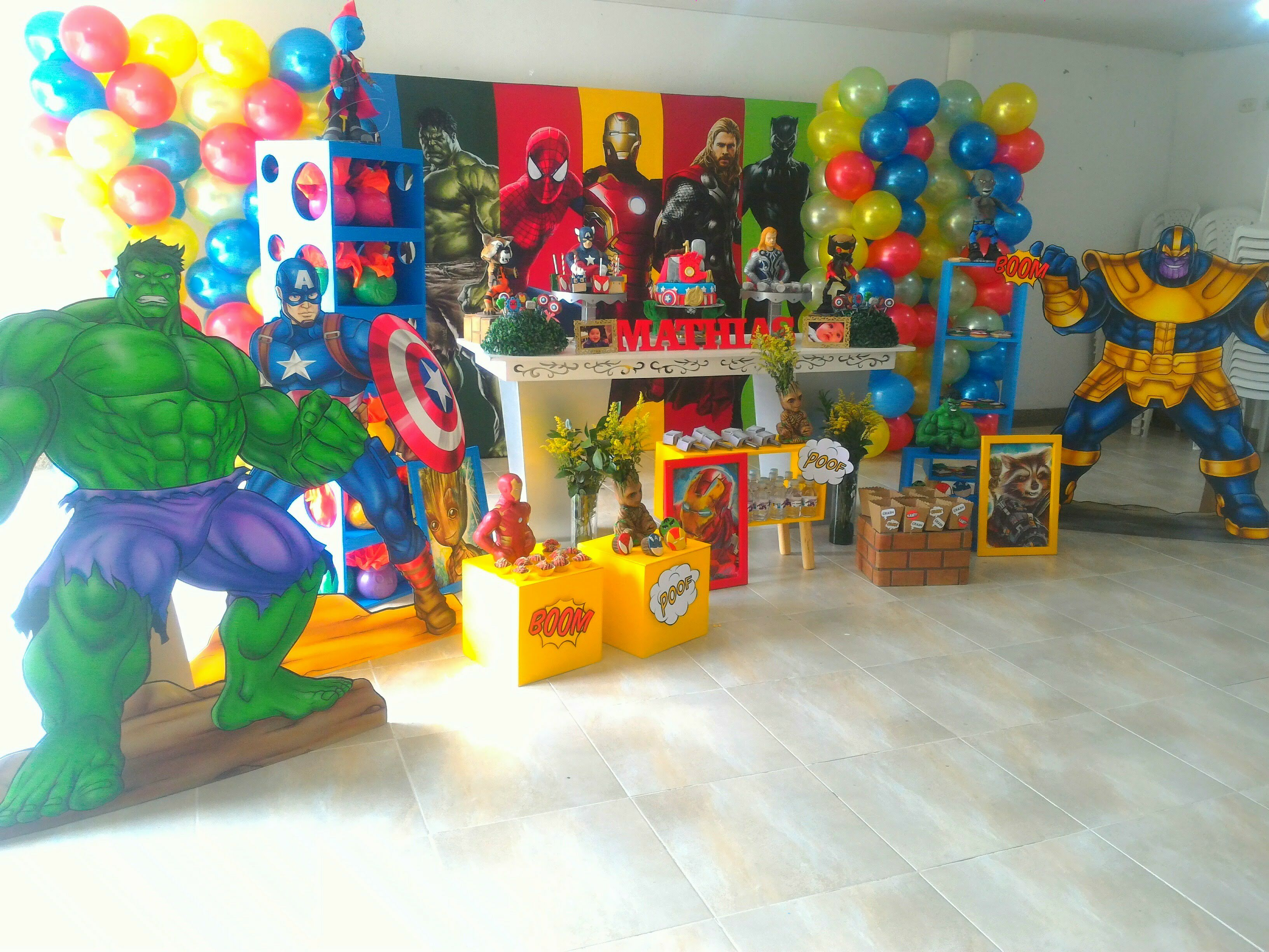 decoracion fiesta vengadores