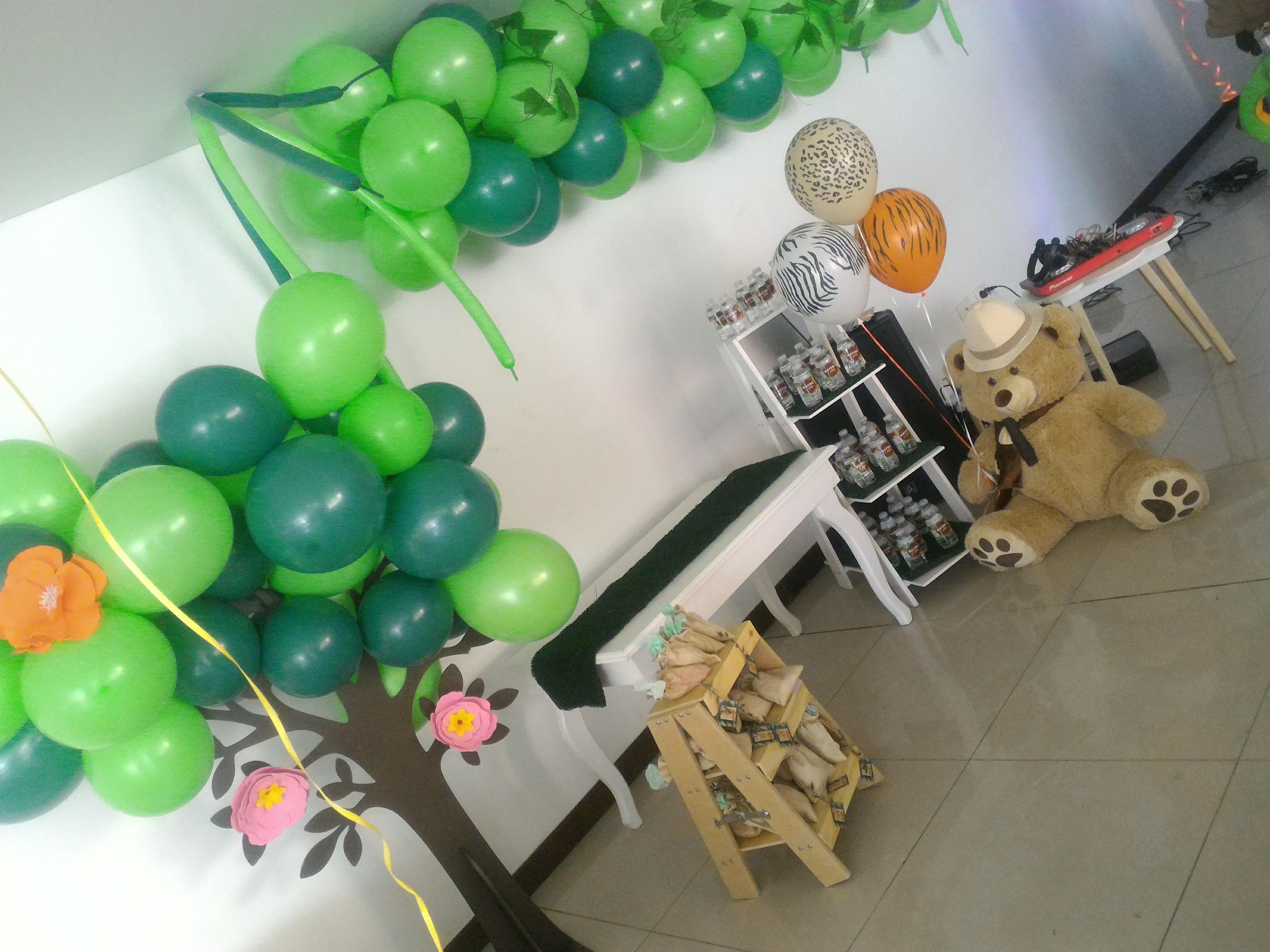 decoracion fiesta selva